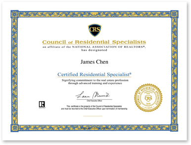 13 East Realty, Inc. receives the prestigious Certified Residential Specialist (CRS) designation!