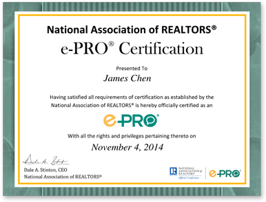 13 East Realty, Inc. receives the National Association of Realtors® e-PRO® Certification!