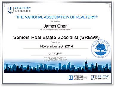 13 East Realty, Inc. receives the National Association of Realtors® Seniors Real Estate Specialist (SRES®) Certification!